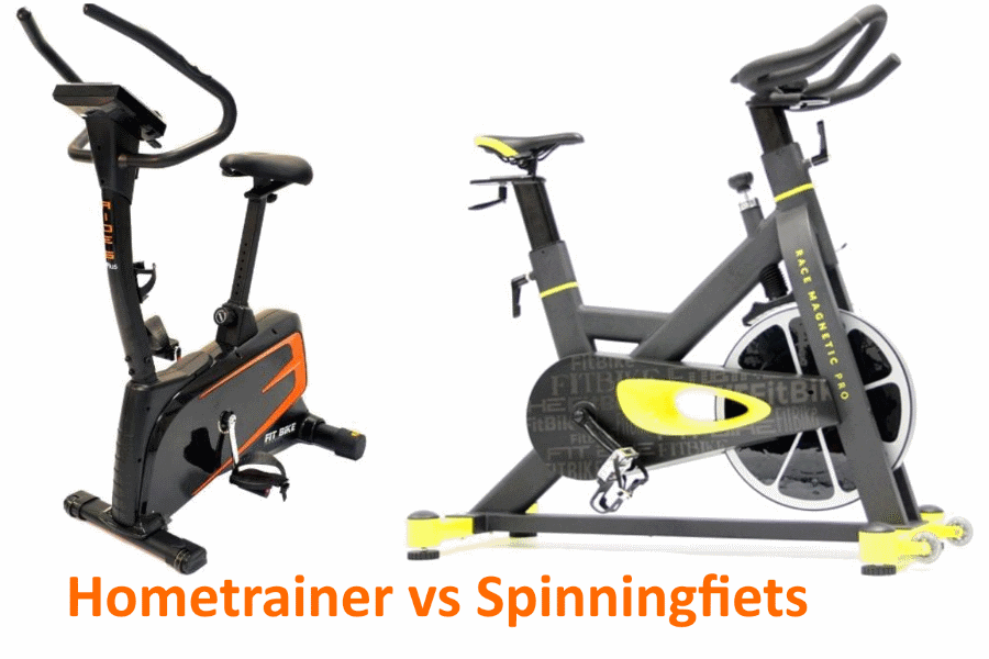 hometrainer vs spinningfiets