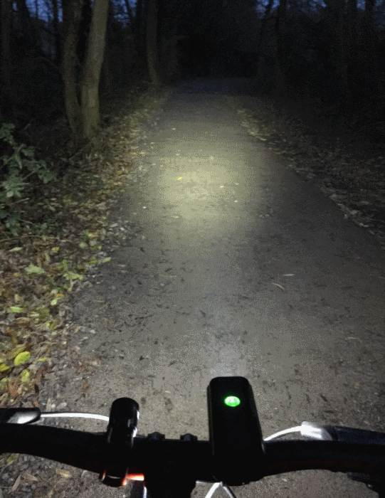 led fietslampen test bos